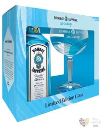 "Bombay "" Sapphire "" ltd.glass set of English gin 40% vol.  0.70 l"