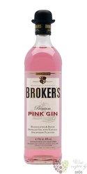 "Broker´s "" Pink "" British flavored premium gin 40% vol. 0.70 l"