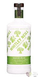 """Whitley Neill """" Brazzilian Lime """" British flavored gin 43% vol.  0.70 l"""