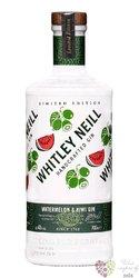 "Whitley Neill "" Watermelon & Kiwi "" British flavored gin 43% vol.  0.70 l"
