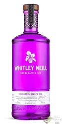 "Whitley Neill "" Rhubarb & Ginger "" British flavoured small batch gin 43% vol.  1.00 l"