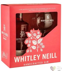 "Whitley Neill "" Raspberry "" glass set British flavored gin 43% vol.  0.70 l"