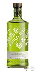 "Whitley Neill "" Gooseberry "" British flavored small batch gin 43% vol.  0.70 l"