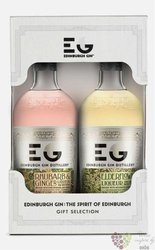 Edinburgh gift set of Scottish flavoured gin 20% vol.  2x0.50 l