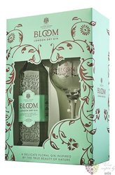 "Greenall´s "" Bloom "" glass set premium British London dry gin 40% vol.  0.70 l"