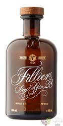 Filliers 28 copper pott still Belgian dry gin 46% vol.  0.50 l