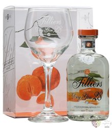 "Filliers 28 "" Tangerine seasonal edition 2014 "" glass pack Belgian gin 43,7% vol.  0.50 l"