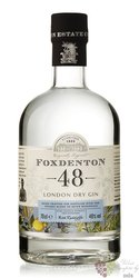"Foxdenton "" 48 "" English London dry gin 48% vol.  0.70 l"