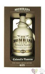 "Mombasa Club "" Colonel´s reserve "" English dry gin 43.5% vol.  0.70 l"