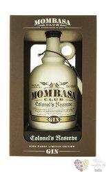 """Mombasa Club """" Colonel´s reserve """" English dry gin 43.5% vol.  0.70 l"""