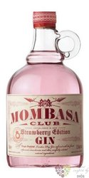 "Mombasa Club "" Strawberry edition "" English flavored gin 37.5% vol.  0.70 l"