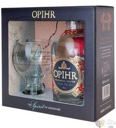 "Opihr "" Oriental spice "" glass set British London dry gin 42.5% vol.  0.70 l"