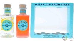 """Malfy """" con Limone e Arancia """" Italian GQDI gin 41% vol.  2x0.35 l"""