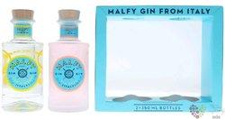 """Malfy """" con Limone e Rosa """" Italian GQDI gin 41% vol.  2x0.35 l"""