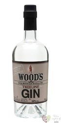 "Woods "" Treeline "" American dry gin by High Mountain distillery 40% vol.  0.70 l"