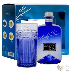 "Akori "" Premium "" glass set of Spanish dry gin 42% vol.   0.70 l"