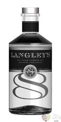 "Langley´s "" no.8 "" English London dry gin 41.7% vol.  0.70 l"