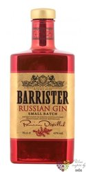 "Barrister "" Russian "" Russian dry gin 43% vol.  1.00 l"