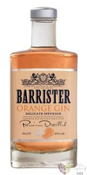 "Barrister "" Orange "" flavoured Russian dry gin 43% vol.  0.70 l"