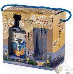 Etsu glass set handcrafted Japanese gin 43% vol.  0.70 l