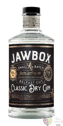 "Jawbox "" Belfast Cut "" Irish Classic dry gin 43% vol. 0.70 l"