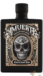 "Amuerte Coca leaf "" Black "" flavoured Belgium gin 43% vol.  0.70 l"