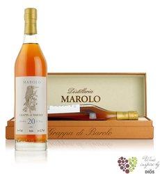 Grappa di Barolo Invecchiata aged 20 years distilleria Marolo 50% vol.  0.70 l