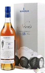 Grappa di Barolo Nivis 2006 aged 13 years Marolo 53.8% vol.  0.70 l