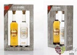"""Grappa Confezione """" Vendemmia """" double pack by distilleria Nonino 40% vol.   2 x 0.50 l"""