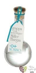 """Grappa di Muller Thurgau """" Cru Monovitigno """" Friuli by distilleria Nonino 45% vol.    0.50 l"""