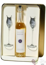 "Grappa "" Barili di Sassicaia "" 2glass pack Jacopo Poli & tenuta San Guido 40% vol.   0.50 l"