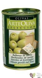 """Španělské olivy """" ArteOliva Seleccion """" zelené s modrým sýrem v plechovce Aceitunas Cazorla    300 g"""