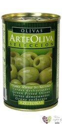 """Španělské olivy """" ArteOliva Seleccion """" zelené bez pecky v plechovce Aceitunas Cazorla    300 g"""