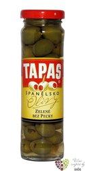 """Španělské olivy """" Tapas """" zelené bez pecky ve skleničce Loreto Food  142 g"""