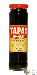 """Španělské olivy """" Tapas """" černé bez pecky ve skleničce Loreto Food   142 g"""