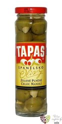 """Španělské olivy """" Tapas """" zelené plněné mandlí ve skleničce Loreto Food  142 g"""