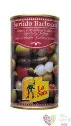 Španělský olivovy koktejl pikantní v plechovce La Sota   350g