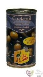 Španělský zeleninový olivovy koktejl v plechovce La Sota   350g