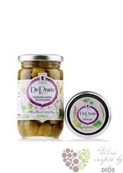 Portugalské olivy zelené bez pecky ve skleničce 290g  De Prado
