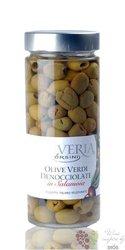 """Olive verdi snocciolate in Salamoia """" Veria """" Italy Abruzzo by Ursini   580g"""