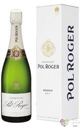 "Pol Roger blanc "" Réserve "" Brut gift box Champagne Aoc  0.75 l"