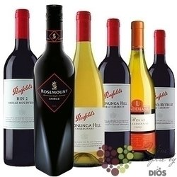 "The collection around the world "" Australia "" box A pack of Australian wines  6x 0.75 l"