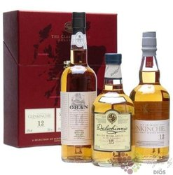 "the Classic Malt collection "" Gentle "" single malt Scotch whisky 3x0.20 l"