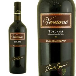 "Toscana rosso "" Vecciano "" Igt 2008 Supertuscan wine Duca di Saragnano      0.75 l"