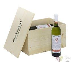 Dřevěná kazeta na 6 lh vína 0.75 l s motivem vinařství Patria v Kobylí