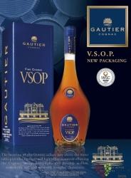 """Gautier """" VSOP """" fine Cognac Aoc 40% vol.    0.70 l"""
