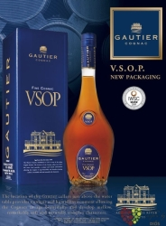 """Gautier """" VSOP """" fine Cognac Aoc 40% vol.    1.00 l"""