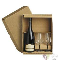 Dárková kazeta na 1 lahev vína se 2 skleničkama s motivem vinařství Tanzberg v Bavorech