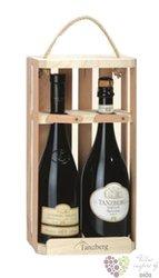 Odnoska dřevěná s motivem vinařství Tanzberg na 2 lahve