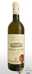 Ryzlink rýnský 2009 výběr z hroznů z vinařství Jedlička & Novák Bořetice     0.75 l